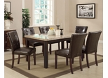 Milton Marble Top Dining Table Set with 6 Chairs - 103771