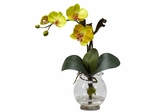 Mini Phalaenopsis with Fluted Vase Silk Flower Arrangement - Nearly Natural - 1277-YL