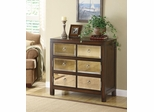 Mirror Front Accent Cabinet - Distressed Finish - 950108
