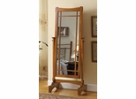 Mission Style Cheval Mirror in Oak - 900465