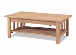 Mission Tall Coffee Table with Lift Top - BJ6TCL