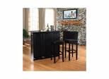 "Mobile Folding Bar in Black With 29"" Square Seat Stool - CROSLEY-KF400035BK"
