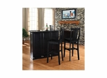 "Mobile Folding Bar in Black With 30"" Shield Back Stool - CROSLEY-KF400031BK"