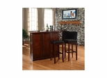 "Mobile Folding Bar in Vintage Mahogany With 29"" Square Seat Stool - CROSLEY-KF400035MA"