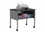 Mobile Machine Stand in Anthracite/Gray - Mayline Office Furniture - 2140CAANTGRY