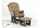 Modern Multiposition Glider and Ottoman Combo - Dutailier - C01-84A