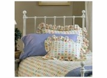 Molly Twin Size Headboard with Frame in White - Hillsdale Furniture