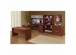 Monaco Home Office Furniture Collection in Tuscany Brown - Bestar Office Furniture