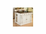 """Monarch Kitchen Island with Granite Top and 24"""" Stools - Home Styles - HS-5021-948"""