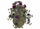 Morning Glory with Decorative Vase Silk Plant - Nearly Natural - 6692