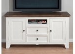"""Nantucket Aged White 60"""" TV Stand with Storage - 048-9"""