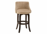 Napa Valley Swivel Counter Stool in Textured Khaki Fabric - Hillsdale Furniture - 4294-828