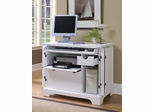 Naples Compact Computer Cabinet in White - Home Styles - 5530-19