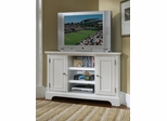 Naples Corner Entertainment TV Stand in White - Home Styles - 5530-07