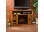 Narita Media Glazed Pine Electric Fireplace - Holly and Martin