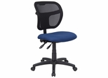 Navy Blue Fabric and Mesh Task Chair - WL-A7671SYG-NVY-GG