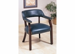 Navy Office Guest Chair with Nailhead Trim - 511N