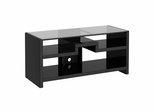 New York Skyline 3-in-1 Gaming Center / TV Stand in Modern Mocha - Kathy Ireland