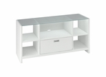 New York Skyline Credenza / TV Stand in Plumeria White - Kathy Ireland