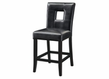 Newbridge Counter Stool Black Cushion - Set of 2 - 103619BLK