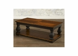 Newbury Rectangular End Table with Shelves Antique Black / Cherry - Largo - LARGO-ST-T557-120