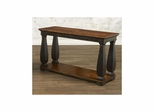 Newbury Sofa Table with Shelf Antique Black / Cherry - Largo - LARGO-ST-T557-130