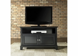 "Newport 42"" TV Stand in Black Finish - Crosley Furniture - KF10003CBK"
