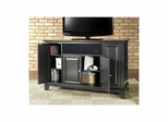 "Newport 48"" AroundSound TV Stand in Black - CROSLEY-KF1002CASBK"