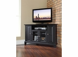 "Newport 48"" Corner TV Stand in Black - CROSLEY-KF10006CBK"