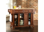 Newport Natural Wood Top Kitchen Island in Classic Cherry Finish - Crosley Furniture - KF30001CCH