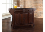 Newport Solid Black Granite Top Kitchen Island in Vintage Mahogany - CROSLEY-KF30004CMA