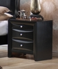 Night Stand - Briana Night Stand in Glossy Black - Coaster - 200702
