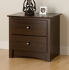 Night Stand with 2 Drawers in Espresso - Fremont - Prepac Furniture - EDC-2422