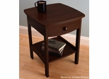 Nightstand with 1 Drawer and Shelf - Winsome Trading - XX118