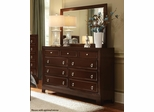 Nortin Dark Cherry Dresser - 202193