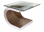 Nova Meandering Glass Top End Table - Nova Lamps - ENT15RBA
