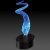 Novelty Lamp - Mini Sculptured Electra Lamp in Blue / Blue - LumiSource - MH-SE3SM-BB
