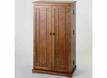 Oak Mission Style DVD Cabinet - Leslie Dame DVD Storage - CD-612D