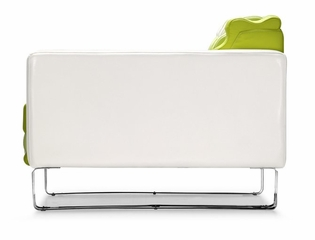 Occasional Chair - Ripple Armchair in White and Green - Zuo Modern - 900266