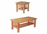 Occasional Table Set in Golden Oak - Stanford Mission - EL-GOAK-TBL-SET