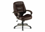 Office Chair Mid Back - Leather Saddle - LLR63281
