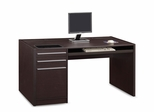 Ontario Single Pedestal Desk with 2 Drawers - 800982