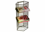 Onyx 28 DVDs Blu-Rays Tower Wall Mounted or Free Standing in Matte Black - Atlantic - 1331