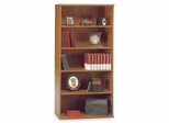 Open Double Bookcase - Series C Natural Cherry Collection - Bush Office Furniture - WC72414