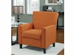 Orange Accent Chair with Wood Legs - 902094