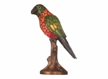 Orange And Yellow Parrot Accent Lamp - Dale Tiffany