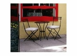 Outdoor Patio Set - Bistro Round Table and Chairs Set - Black - Pangaea Home and Garden Furniture - FM-SET-1