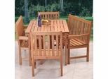 Outdoor Patio Set - Milano Bench 5-Piece Set - BT-BENCH-SET