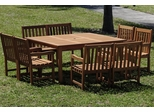 Outdoor Patio Set - Milano Square Table 9-Piece Set Deluxe - BT-SQUARE-DELUXE