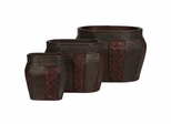 Oval Decorative Planter (Set of 3) - Nearly Natural - 0518